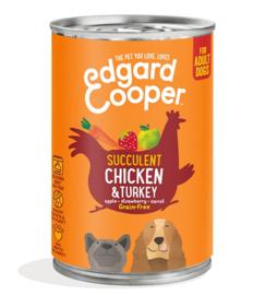 Edgard & Cooper Blik Kip & Kalkoen 400 gram