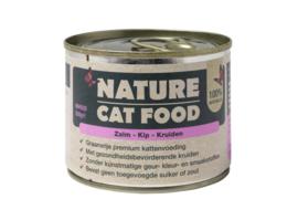 Nature Catfood Zalm/Kip en kruiden blik 200 gram