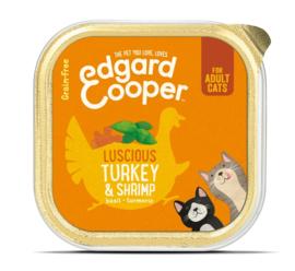 Edgard & Cooper Cat Kalkoen en Garnaal 85 gram