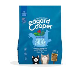 Edgard & Cooper Kat Senior Verse Scharrelkip en MSC Witvis 300 gram