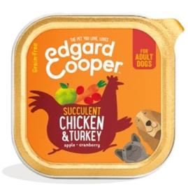 Edgard & Cooper Kuipje Kip & Kalkoen 150 gram