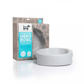 Hero Bowl antibacteriële eet- en drinkbak Urban Grey L