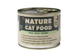 Nature Catfood Rund/Eend en kruiden blik 200 gram