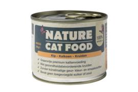 Nature Catfood Kip/Kalkoen en kruiden blik 200 gram