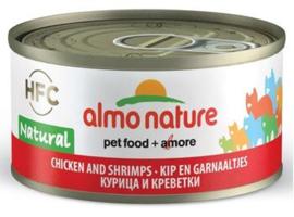 Almo Nature Catfood Kip met Garnaal blik 70 gram