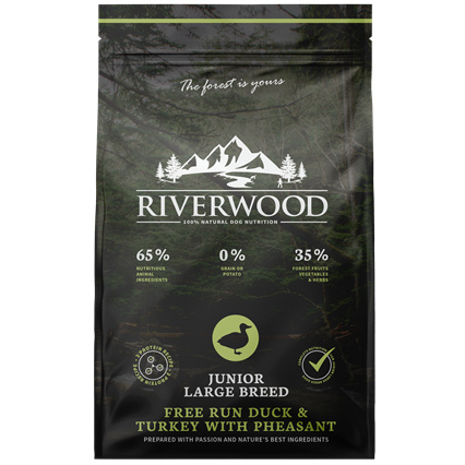 Riverwood Junior Large Breed Kalkoen - Eend - Fazant 12 kilo