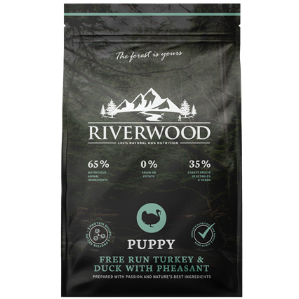 Riverwood Puppy Kalkoen - Eend - Fazant 12 kilo