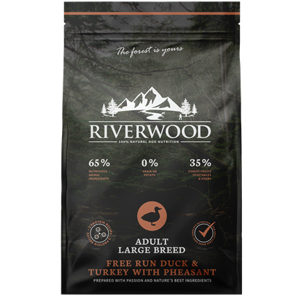 Riverwood Adult Large Breed Kalkoen - Eend - Fazant 12 kilo