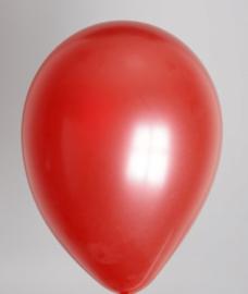 Ballon Metallic Rood- per 1