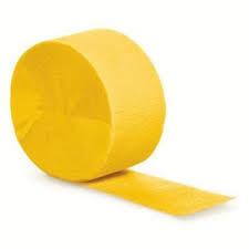 Crepepapier - Rol Geel