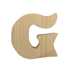 Houten letter G