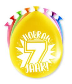 Assorti Ballon - 7 Jaar