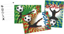 Goal feestje - Uitnodigingen