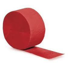Crepepapier - Rol Donkerrood