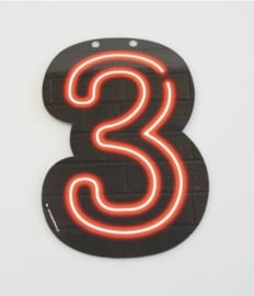 Neon Cijfer - 3