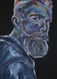 Schilderij man met baard