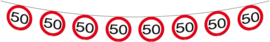 Vlaggenlijn verkeersbord - 50 jaar