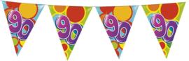 Vlaggenlijn Gekleurd - 90 jaar
