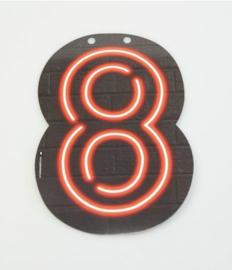 Neon Cijfer - 8