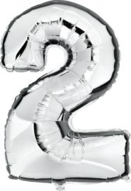 Folie Ballonnen - 2 Zilver