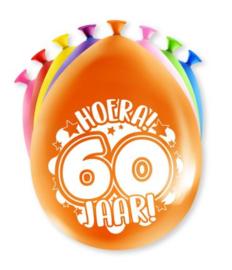 Assorti Ballon - 60 Jaar