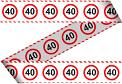 Markeerlint - Verkeersbord 40