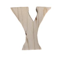 Houten letter Y