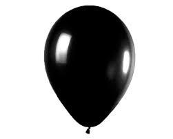 Ballon Zwart - per 1