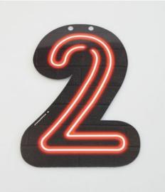 Neon Cijfer - 2