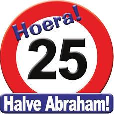 Huldeschild - Verkeersbord 25 halve abraham