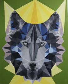 Schilderij wolf