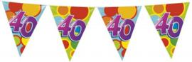 Vlaggenlijn Gekleurd - 40 jaar