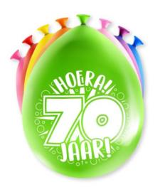 Assorti Ballon - 70 Jaar