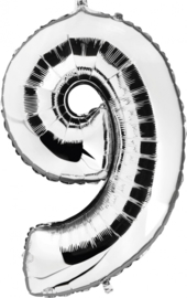 Folie Ballonnen - 9 Zilver