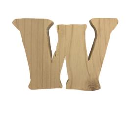 Houten letter W