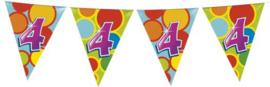 Vlaggenlijn Gekleurd - 4 jaar