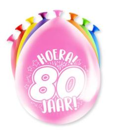 Assorti Ballon - 80 Jaar