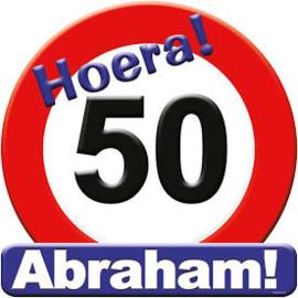 Huldeschild - Verkeersbord 50 abraham