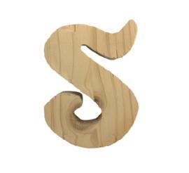 Houten letter S