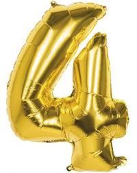 Folie Ballonnen - 4 Goud