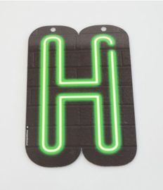 Neon Letter - H