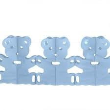 Papieren Vlaggenlijn - Geboorte Beertjes Blauw
