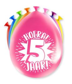 Assorti Ballon - 5 Jaar