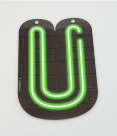 Neon Letter - U