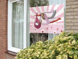 Windowbanner - Meisje