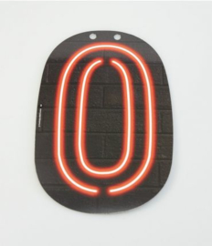 Neon Cijfer - 0
