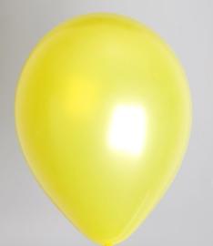 Ballon Metallic Geel - per 1