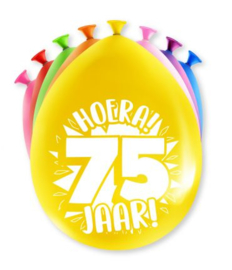 Assorti Ballon - 75 Jaar