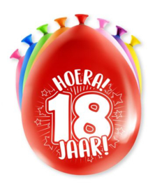 Assorti Ballon - 18 Jaar