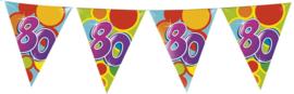Vlaggenlijn Gekleurd - 80 jaar